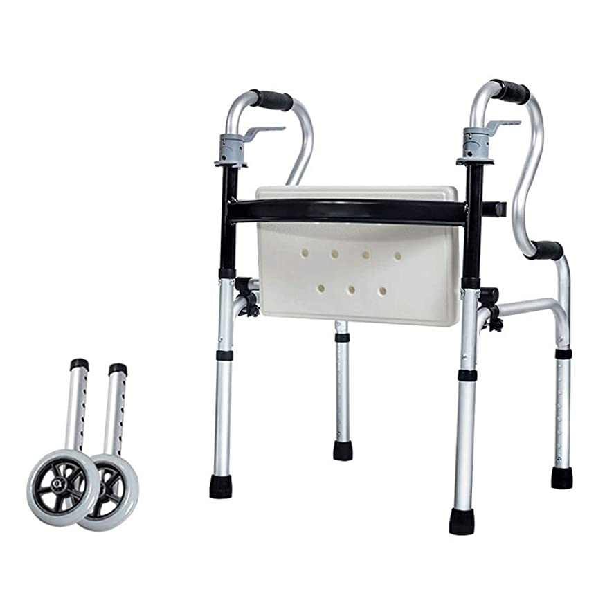 一般的に言えば協会消費者固定インタラクティブデュアルパーパスウォーカー、高齢者用スポーツトレーニング車輪付きウォーキングフレームFoldable