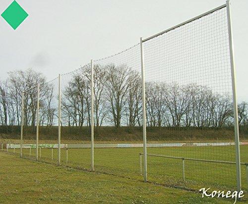 Ballfangnetz Stopnetz Fangnetz Höhe 5,0m, Länge frei wählbar, MW 12cm, 3mm Kordelstärke, Farbe grün