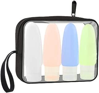 Lermende TSA Approved Travel Toiletry Bag Travel Accessories Clear Quart Size Toiletries Bags