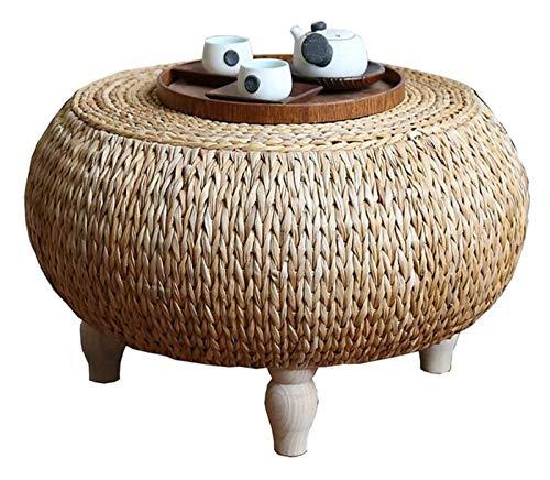 Mesa de ceremonia de té de mesa de té de mesa baja Escritorio de computadora para altura de tatami, mesa de té Mesa de hierba de hierba Mesa de estilo japonés Mesa de madera Nórdico Balcón Mesa de cen