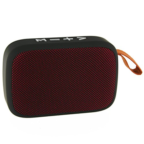 Daewoo DBT-301 R Altavoz Bluetooth Tela - Color Rojo, Pequeno
