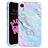 Velvet Caviar Compatible with iPhone XR Cases Marble for Girls & Women - Cute Protective Phone Case (Pink Iridescent Holographic Blue)