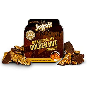 joypots milk chocolate covered peanut brittle. 1x 250g tub. gluten free, vegetarian Joypots Milk Chocolate Covered Peanut Brittle. 1x 250g Tub. Gluten Free, Vegetarian 51bC61wNJZL