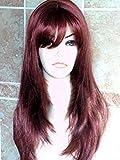 Forever Young Ladies peluca larga capa extra largo oscuro Auburn Mix Moda Peluca