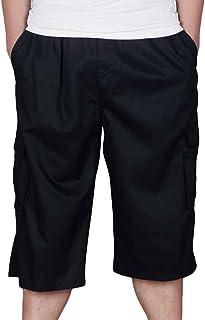 229eacb898e1f2 Heheja Pantaloncini da Uomo 3/4 Bermuda Cargo Shorts Pantaloni Tasche  Laterali