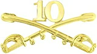 US Army 10th Cavalry Crossed Saber Hat Pin (2 1/4