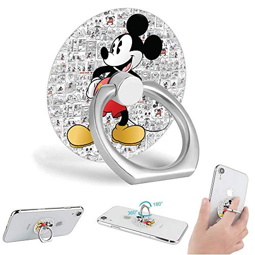 Cell Phone Ring Holder Disney Mickey Mouse 360 Degree Rotation Phone Grip Stand Finger Kickstand for All Smartphone and Tablets
