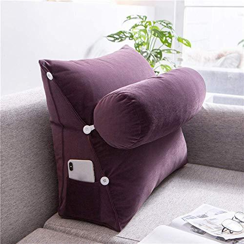 Almohadas de lectura Atrás Cushion Backrest Wedge Almohada con soporte de cuello para sofá sofá, triángulo lectura cojín tiro almohada almohada almohada lumbar almohada cojín cuello de apoyo almohada