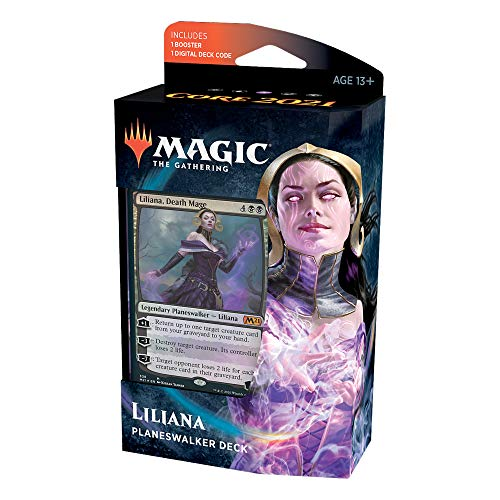 Magic: The Gathering Liliana Death Mage Planeswalker Deck   Core Set 2021 (M21)   60 Card Starter Deck