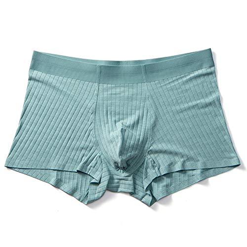 YUHUALI 2019 Nouveaux Modal Hommes sous-vêtements sans Couture Respirant Cool Boxer Court Vert Clair L