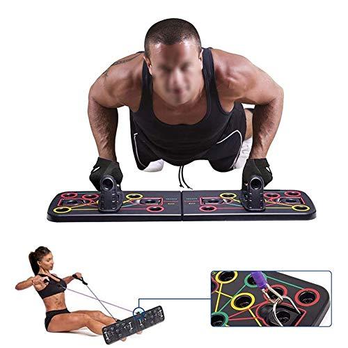 LWWOZL Tabla de Flexiones Plegable, 13 en 1 Multifuncion Push Up Board Tablero de Codos Sistema Fitness Entrenamiento de Fuerza Muscular