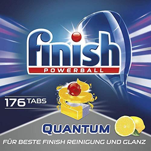 Finish Quantum Citrus Spülmaschinentabs, phosphatfrei – Geschirrspültabs mit Power Gel für strahlend sauberes & glänzendes Geschirr – XXL Großpackung mit 8 x 22 Finish Tabs