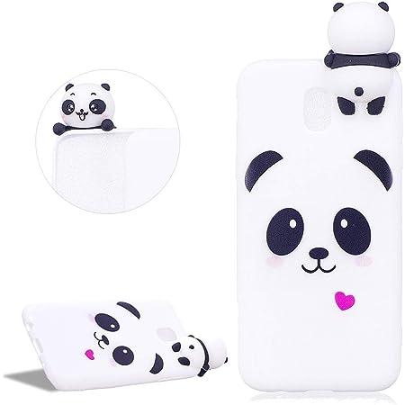 DasKAn Dessin Animé 3D Panda Silicone Coque Samsung Galaxy J5 2017,Coeur d'amour Motif Animaux Ultra Mince Souple Fine Caoutchouc Housse de Arrière ...