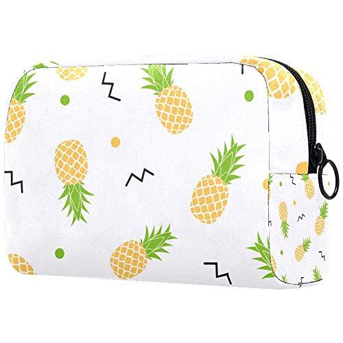 Personalisierbare Make-up-Pinsel-Tasche, tragbare Kulturtasche für Frauen, Handtasche, Kosmetik, Reise-Organizer, Vitamin C, Ananas