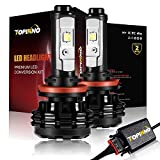 TOPINNO LED Headlight Bulbs Conversion Kit, Extremely Bright CREE XHP50 10000LM, H11 (H8/H9) - 6000K Xenon White Headlight Assembly