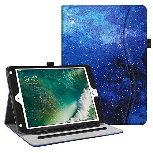 Fintie Hülle für iPad 9.7 Zoll 2018 2017 / iPad Air 2 / iPad Air - [Eckenschutz] Multi-Winkel Betrachtung Folio Stand Schutzhülle Hülle mit Dokumentschlitze, Auto Sleep/Wake, Sternenhimmel