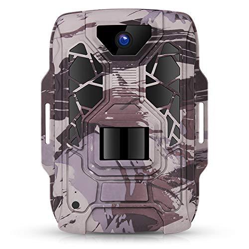 TMEZON Fotocamera Caccia 12MP 1080P Fototrappola Infrarossi 4PCs 940nm IR LEDs Macchine fotografiche da Caccia Rilevatore di Movimento Visione Notturna 65ft/20m Impermeabile IP66,Scheda SD 16G