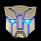 ZCZC Solar Transformers Shape Self-Illuminated Autobot Logo Badge Premium 3D Sticker Car Decal (Optimus Prime)