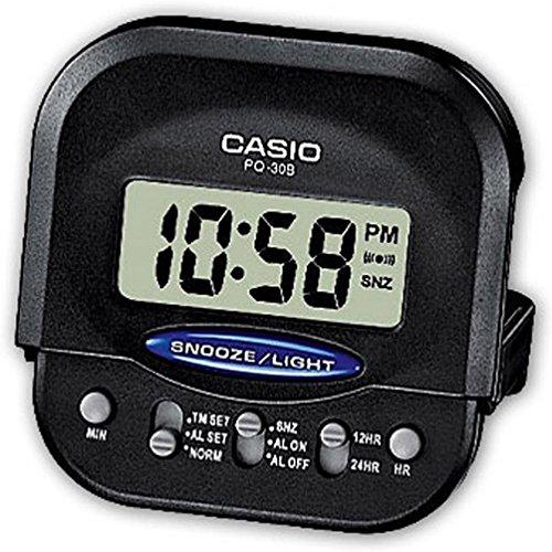 Casio - Sveglia digitale con timer, colore: nero, taglia unica