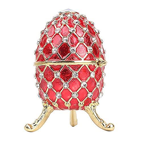 LiuliuBull Regalo dell'anello dell'uovo dell Uovo dell Uovo di Pasqua del Regalo del Gruppo del` s della Scatola dell Anello della Scatola del Ritmo (Color : Rosso)