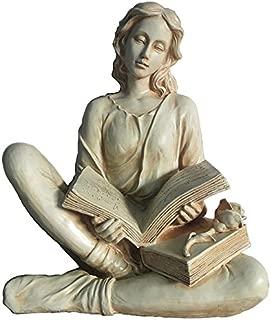 Hi-Line Gift LtdWoman Reading Book Statue