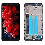 SYFANG Fit for Xiaomi Mi A1 Pantalla LCD MIA1 Mi5x Mi 5X Digitalizador de Pantalla táctil con Piezas de Repuesto de Marco Fit for Xiaomi Mi A1 Pantalla LCD del teléfono(Color:No Frame White)