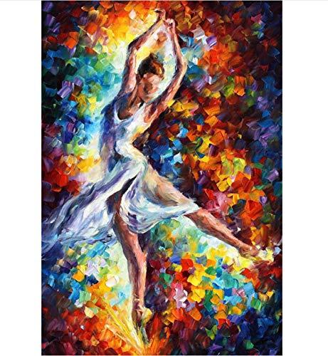 DIRART Frameless DIY Digitale Schilderij Kaars Vuur Schilderen Door Aantal Kleurplaten Door Nummers Voor Home Decor Hand Geschilderd Canvas Schilderij 40X50Cm