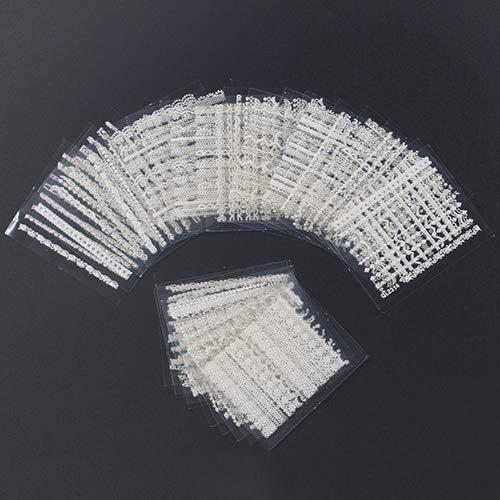 Display08 30 feuilles 3D en dentelle pour nail art Noir/blanc DIY Tips Decal Outils de manucure