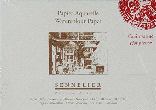 Papel Acuarela Sennelier - 300 g/m2 - Bloc 20 hojas - satinado