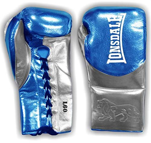 Lonsdale Herren L60 Fight Glove Boxhandschuhe, Matalic Blue/Matalic Silver, 226,8 g (8 oz)