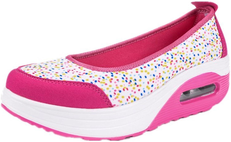 AGoGo Women Fitness Casual Slip-On Sneaker Walking shoes Shake shoes
