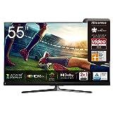 Hisense 55U8QF QLED 139cm (55 Zoll) Fernseher (4K ULED HDR Smart TV, Ultra Premium HD, HDR10+, Dolby VisionundAtmos, Full Array Local Dimming, 120Hz Panel, USB-Recording, JBL so&, Alexa Built-in)