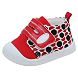 Kuner Cartoon Baby Casual Breathable Shoes for Baby Girls Boys Outdoor Sneakers First Walkers 9-24 Months (5.5 M US Toddler, Red-2)