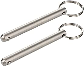 """2 Pack Long Quick Release Pin, Diameter 3/8""""(9.5mm), Usable Length 3""""(76mm), Overall Length 3.6""""(92mm), Full 316 Stainless..."""