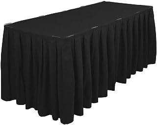 Trimming Shop Plissé Table Jupe avec Nylon Fermeture - Polyester Chiffon Facile Fixation - Lavable Machine et Linge Friend...