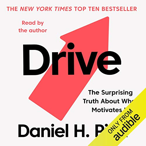 Drive     The Surprising Truth about What Motivates Us              By:                                                                                                                                 Daniel H. Pink                               Narrated by:                                                                                                                                 Daniel H. Pink                      Length: 5 hrs and 53 mins     1,017 ratings     Overall 4.4