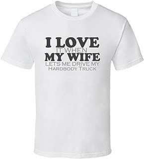 I Love My Wife Hardbody Truck Funny Faded Look Shirt