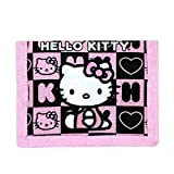 Hello Kitty Trifold Wallet Black Box Checker New Gift Toys Licensed 82354