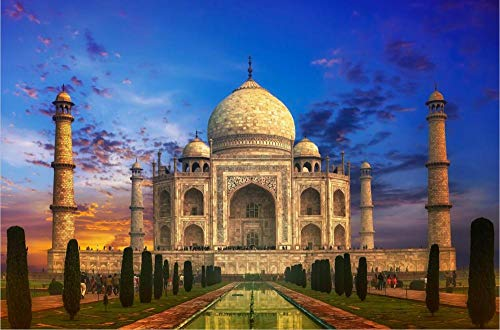 Tarde India Taj Mahal Paisaje 1000 1500 Piezas Rompecabezas De Madera para Niños Adultos Regalo De Juguete De Desarrollo Educativo 500Pieces