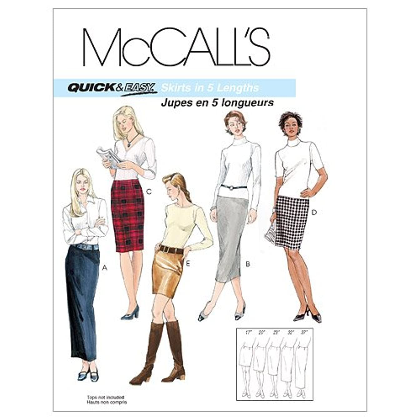 McCall's Patterns M3830 Misses' Skirts in 5 Lengths, Size AA (6-8-10-12)