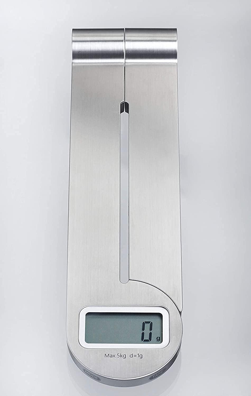 Báscula digital plegable de cocina.
