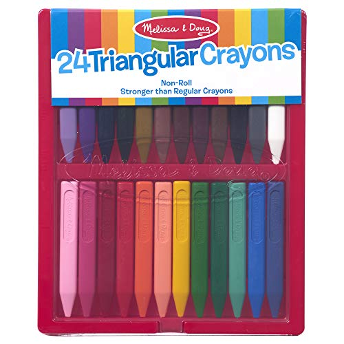 Melissa & Doug Triangular Crayon Set (24 pc)