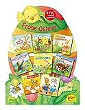 Pixis Riesen-Osterei 'Frohe Ostern': 8 Pixi-Bücher und 5 lustige Spiele auf großer Stanzpappe in Osterei-Form