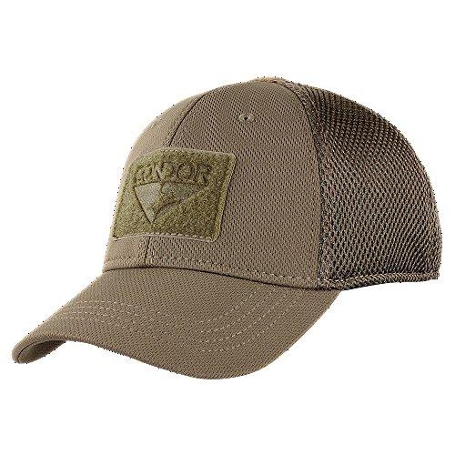 Condor Tactical Mesh Flex Cap, Brown, Small/Medium