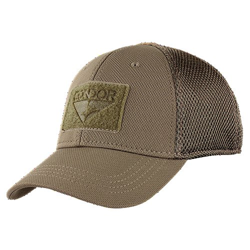 Condor Outdoor Flex Mesh Cap,Brown,Large/X-Large