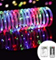 Outdoor String Lights 8 Modes 33ft 100LED Copper Wire Fairy Starry String Lights Battery Powered with Remote Control for Indoor Christmas Waterproof Lighting