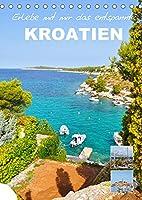 Erlebe mit mir das entspannte Kroatien (Tischkalender 2022 DIN A5 hoch): Kroatien ist ein liebenswertes Land an der Adria (Monatskalender, 14 Seiten )