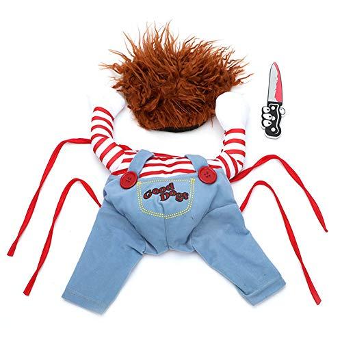 AchidistviQ Divertido Disfraz De Perro Mascota, Divertido Disfraz De Halloween para Perro para Disfrazarse, Ropa De Cosplay para Mascotas Metro