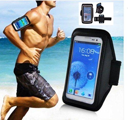 Für ALCATEL PIXI 4 (5 Zoll) 5045X 5045 / Wind SMART Schutzhülle Cover Armband MORBIDA Sport Palestra Fitness SCHWARZ FÜR Jogging/Running