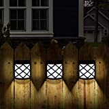 GIGALUMI 8 Pack Solar Fence Lights,6 LED Solar Deck Lights,Waterproof Automatic...